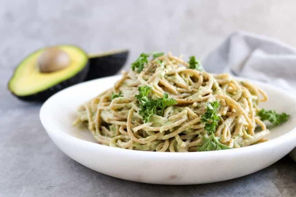 Creamy Tofu & Avocado Pasta (Oil-Free!) - Unsweetened Caroline-0905
