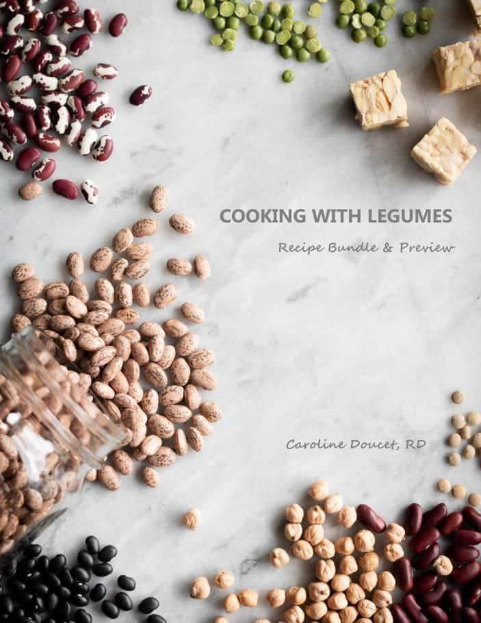Title page of Unsweetened Caroline's free Cooking With Legumes preview.
