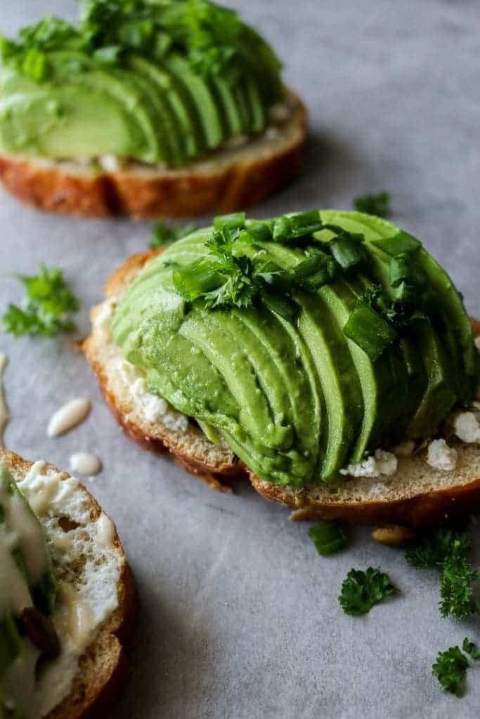 Simple Avocado Toasts - 3 different ways! On Unsweetened Caroline