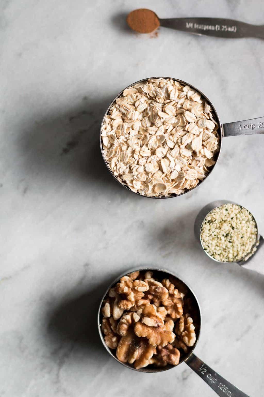 No-Bake Walnut Granola Bars