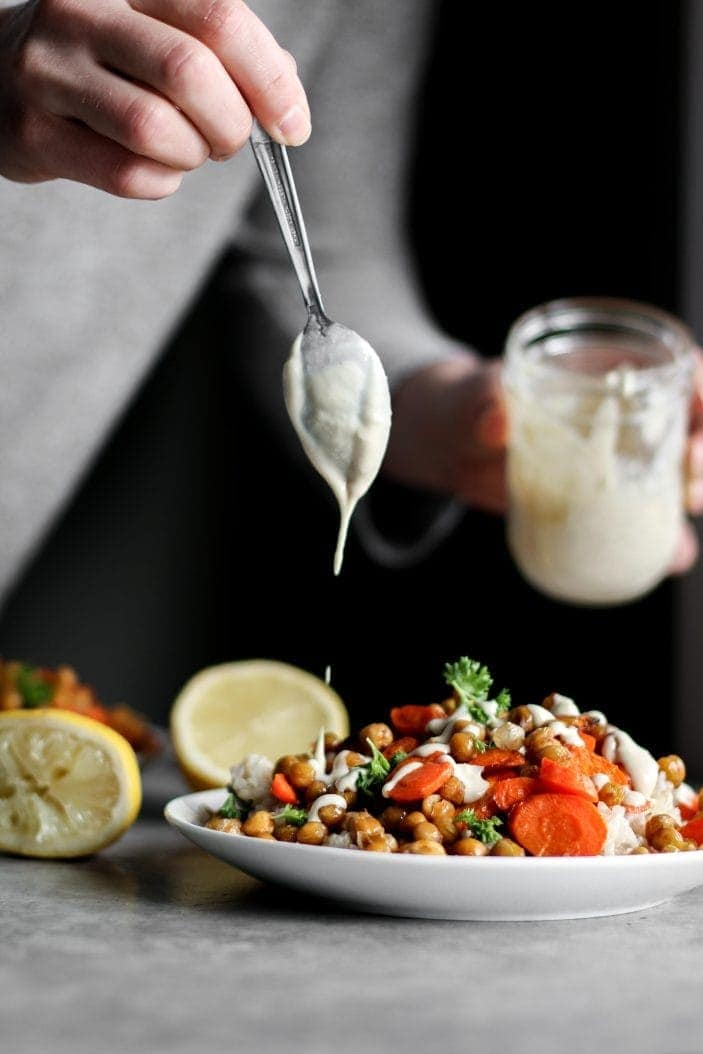 Roasted Carrot & Chickpea Buddha Bowl