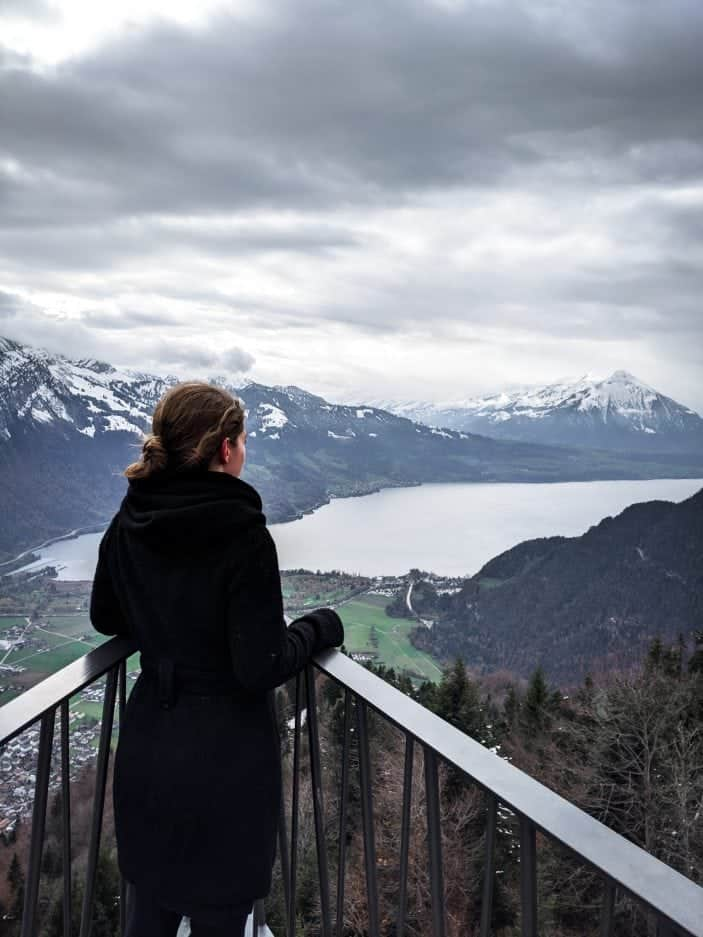 1 Week in Switzerland - girl with view of mountains