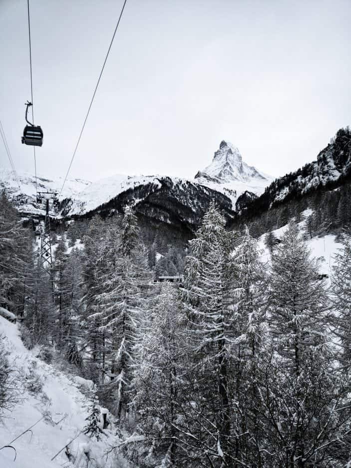 Matterhorn in snow