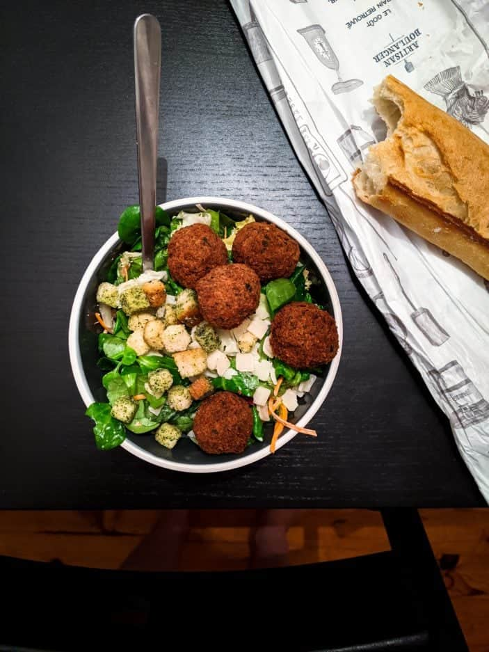 What We Ate in Europe - falafel salad