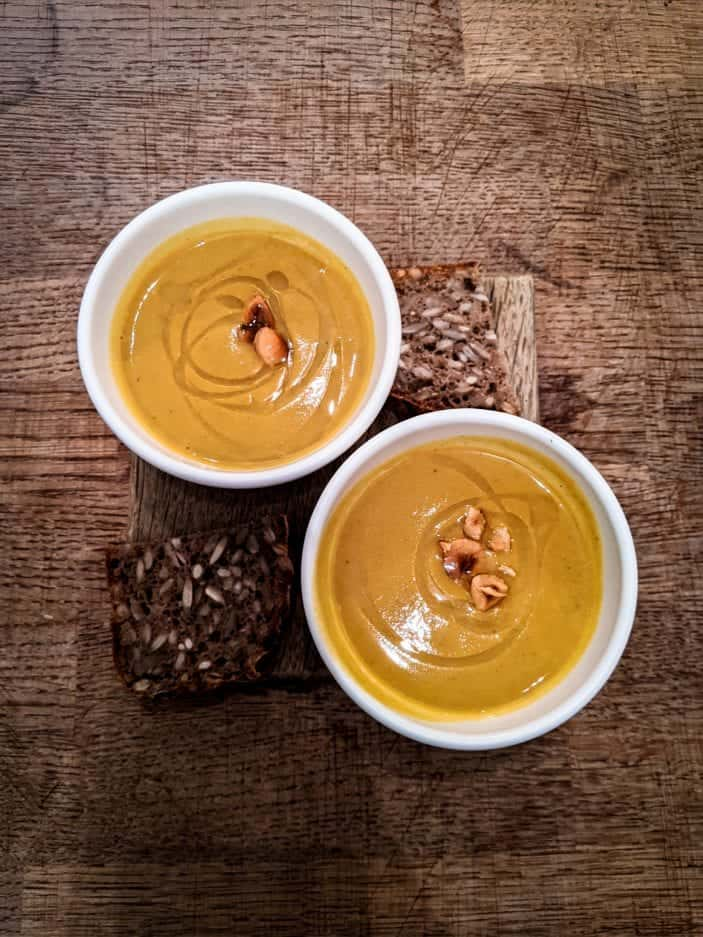 Hazelnut soup