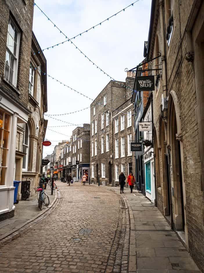 street in Cambridge, England