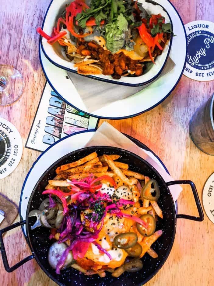 Loaded fries and nachos