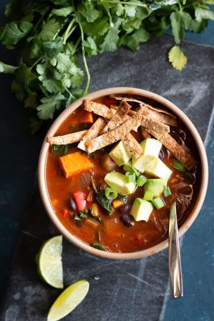 Black Bean Enchilada Soup