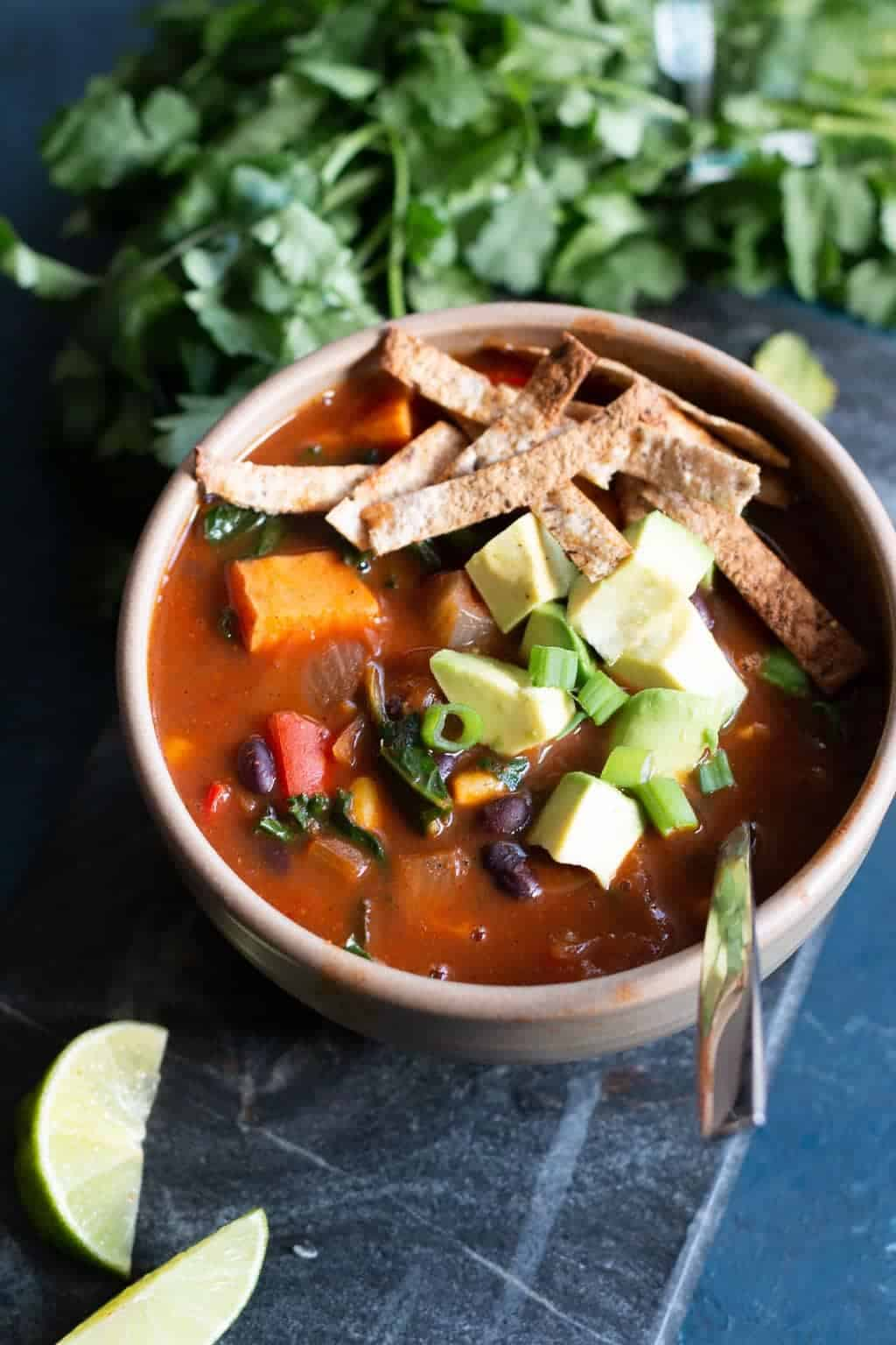 Black Bean Enchilada Soup
