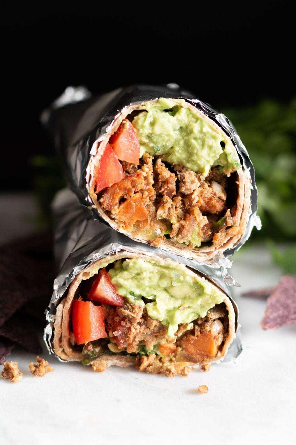 Vegan Lentil Burrito