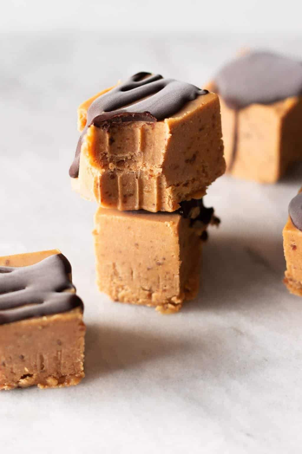 Sugar-Free Peanut Butter Freezer Fudge