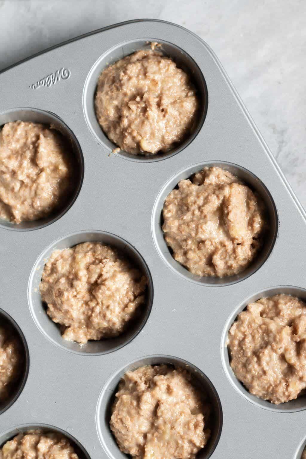 The Healthiest Banana Bran Muffins