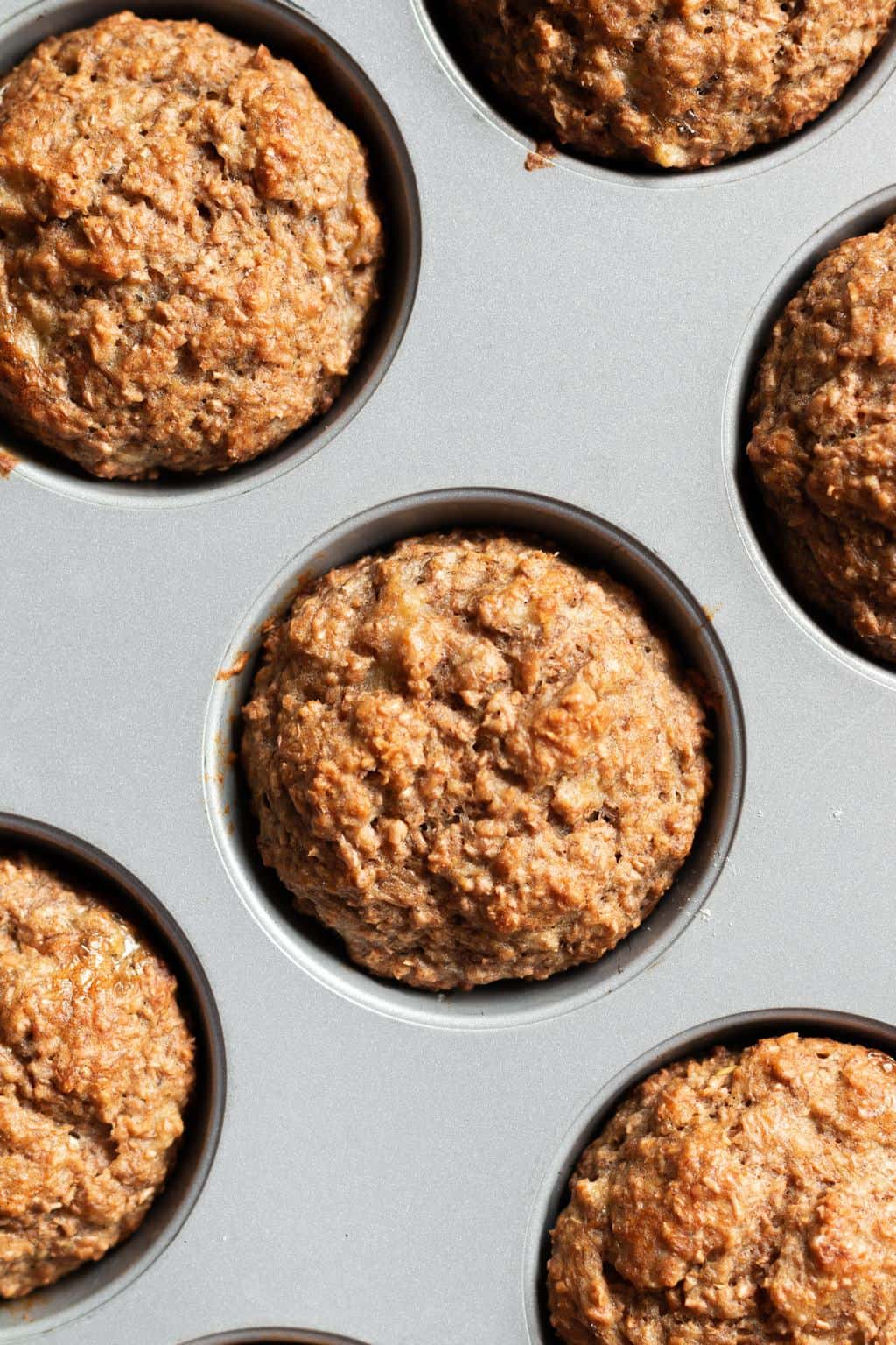 The Healthiest Banana Bran Muffins