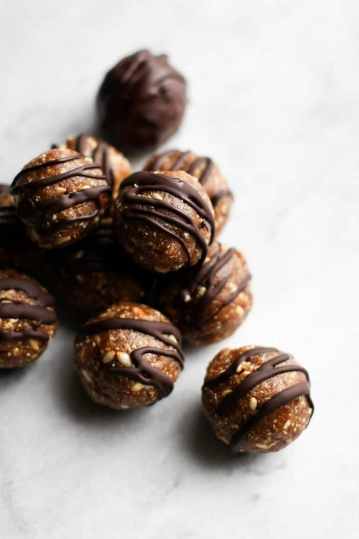 Healthy Peanut Butter Crunch Balls