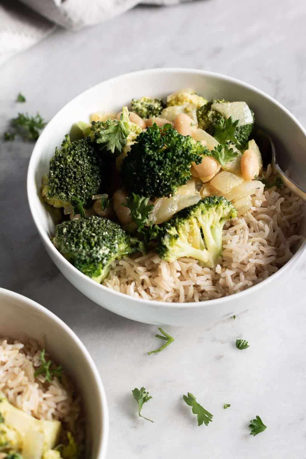Green Curry with Cannellini Beans