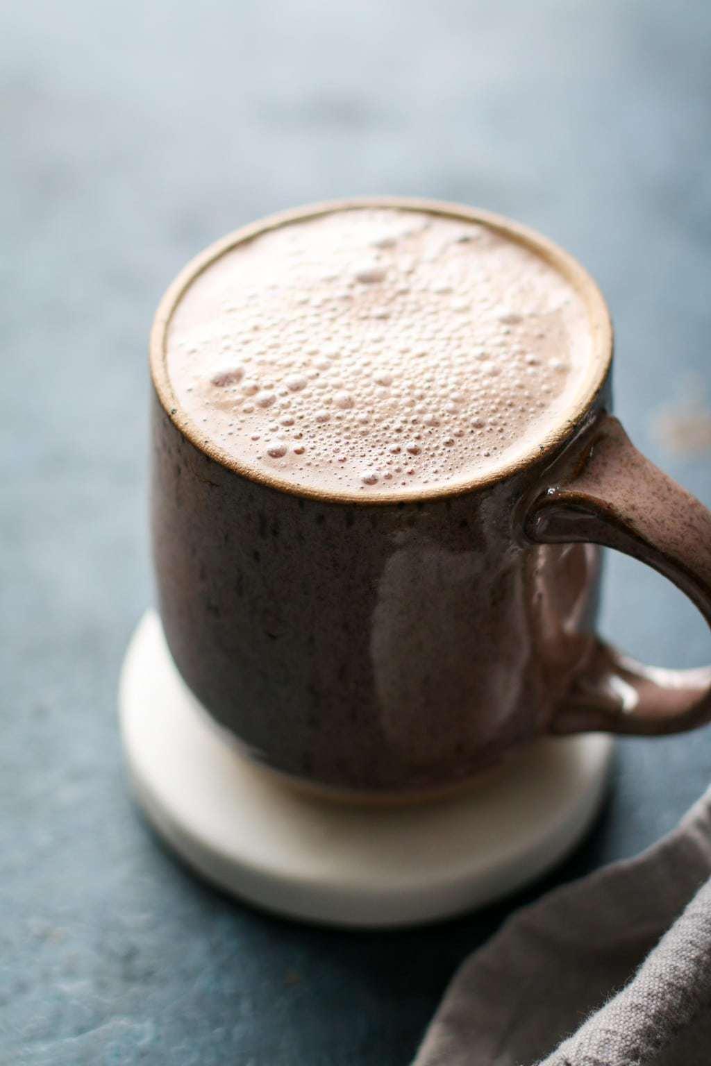 The Healthiest Peanut Butter Hot Chocolate | Unsweetened Caroline