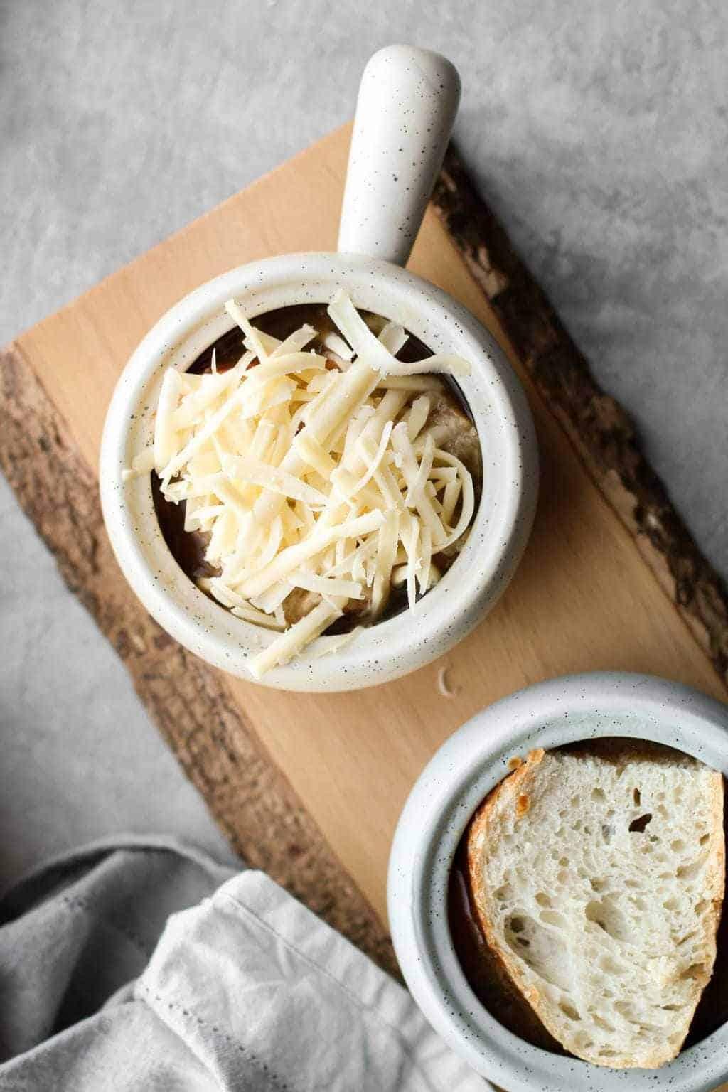 Vegetarian French Onion Soup | Unsweetened Caroline