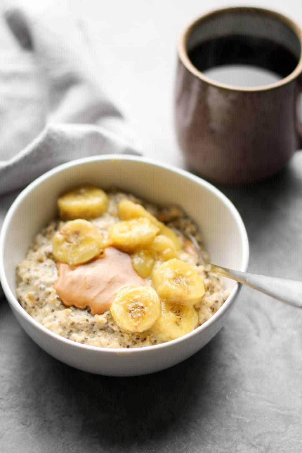 Sugar-Free Caramelized Banana Oatmeal