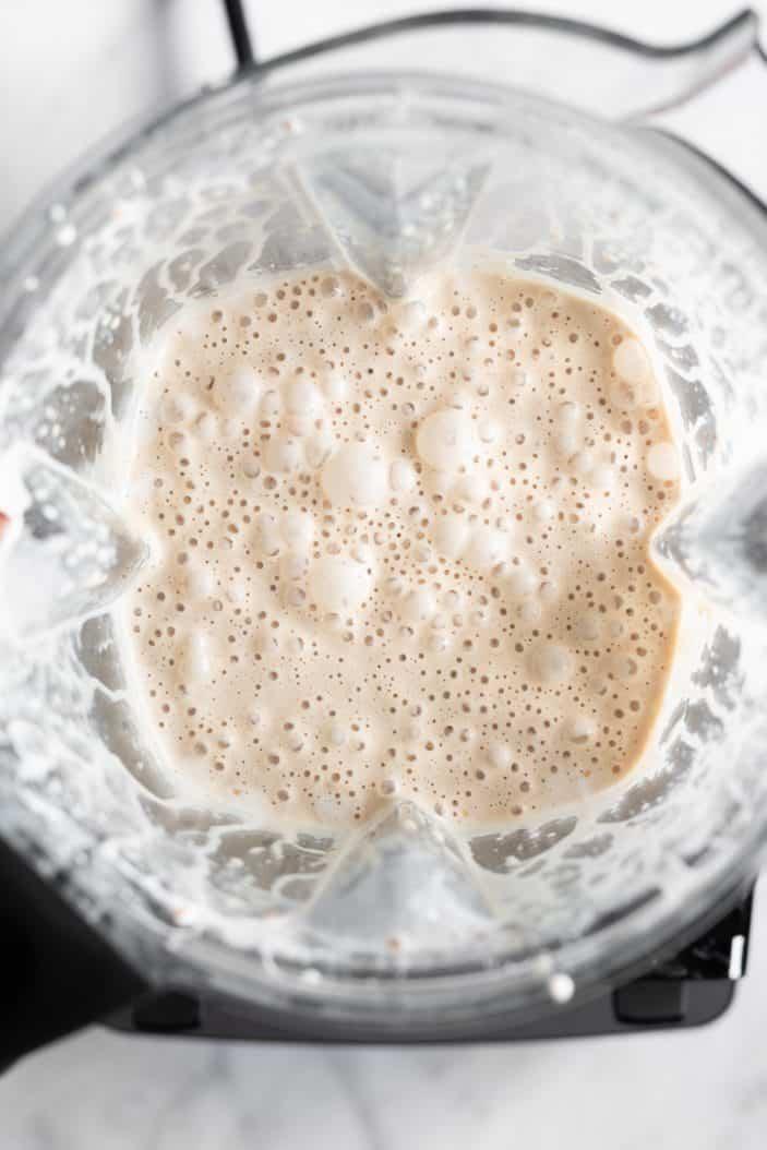 ice cream mixture in a blender