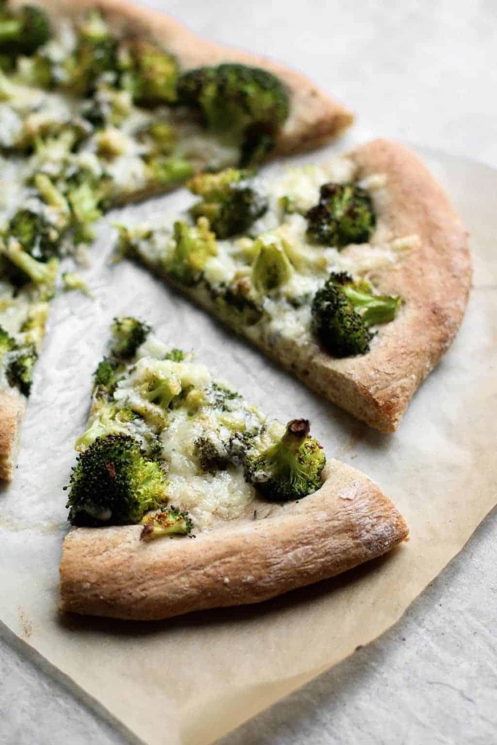 Whole Wheat Broccoli Cheddar Pizza