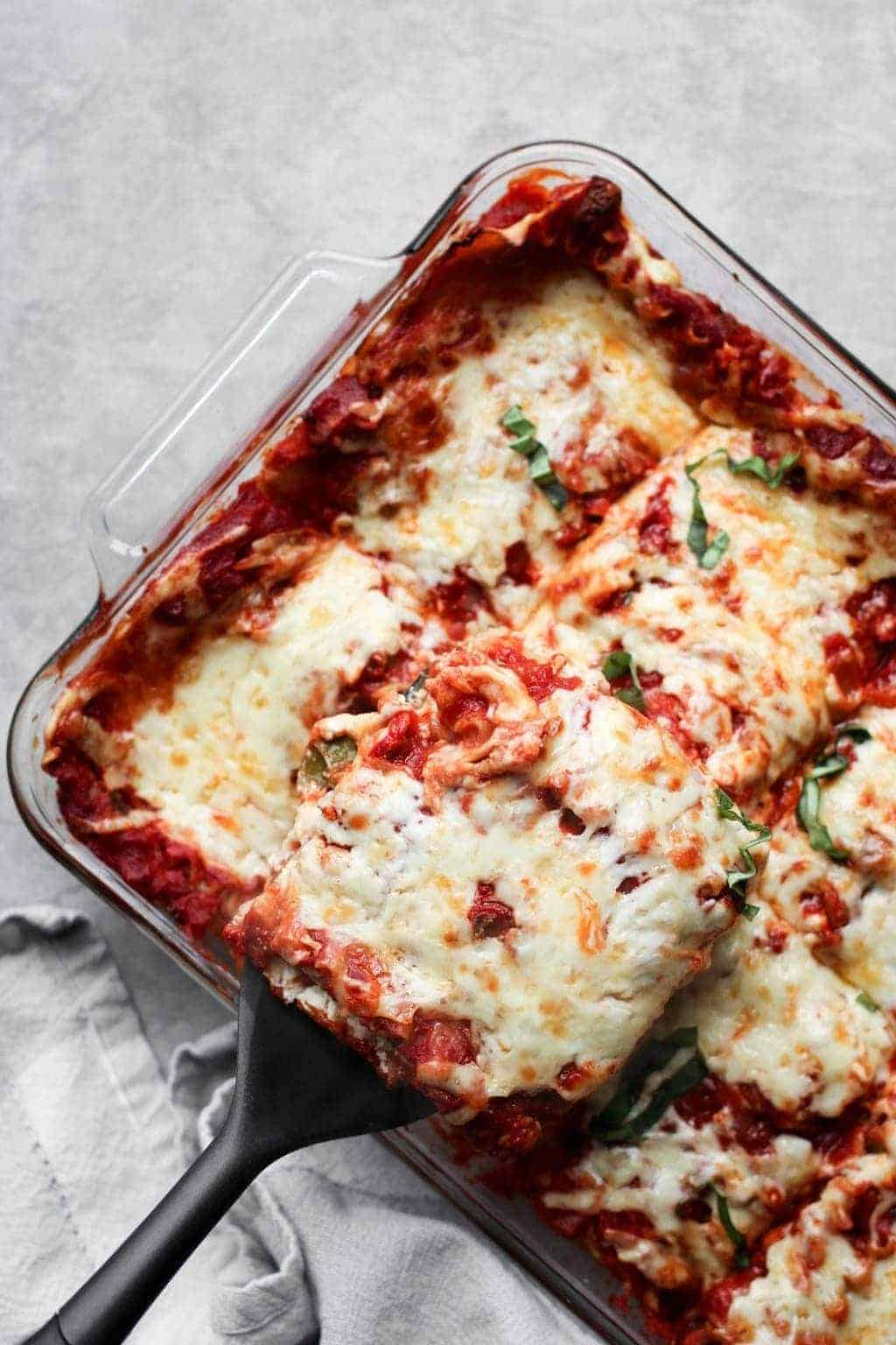 Lightened-Up Vegetarian Lasagna