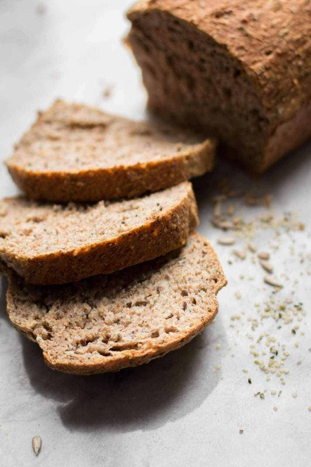 No-Knead Whole Wheat Seeded Bread
