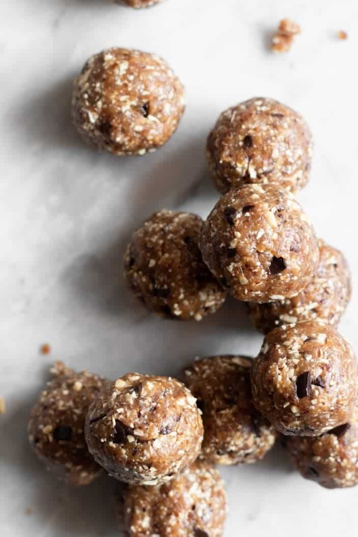 Peanut Butter Chocolate Chunk Energy Bites