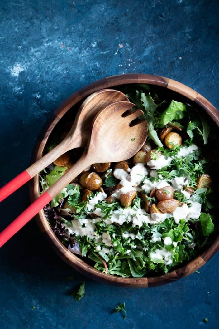 Roasted Potato Herb Salad