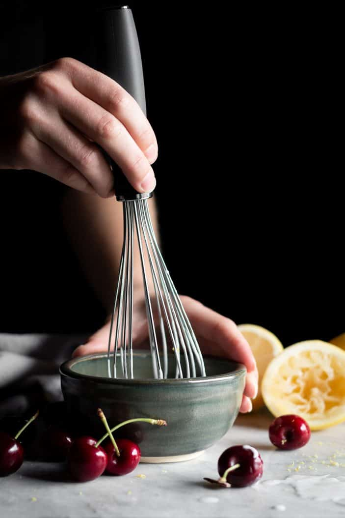 whisk in a bowl