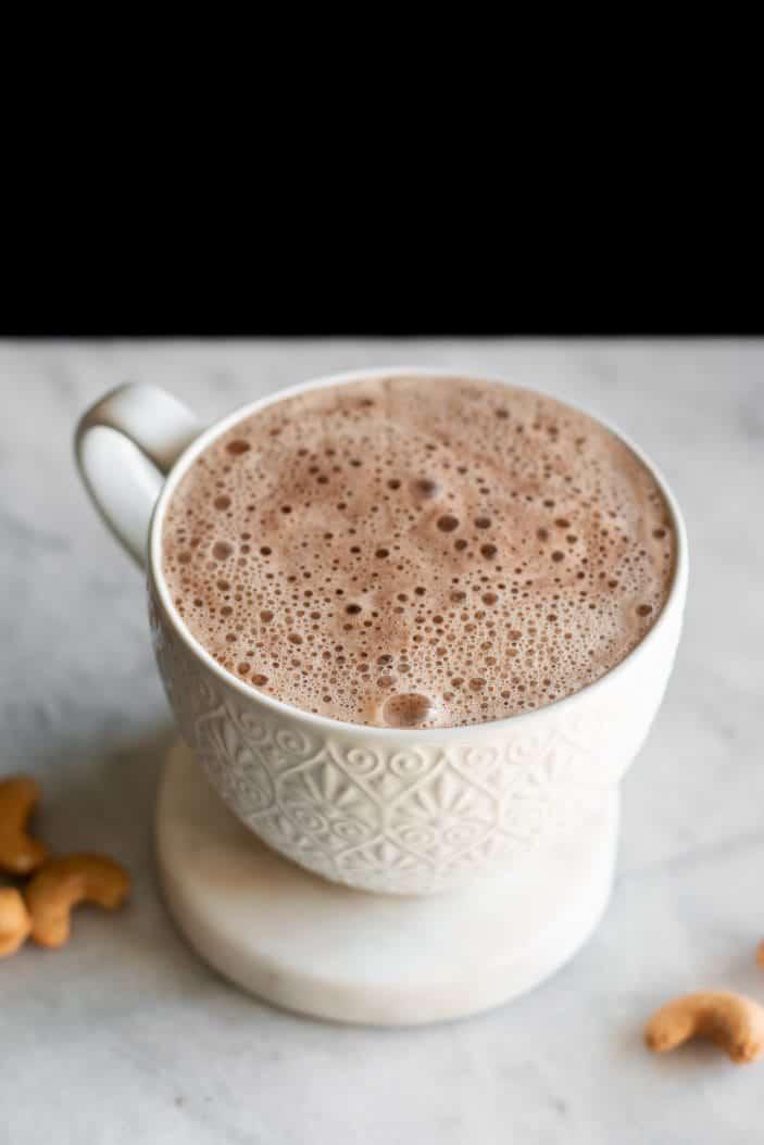 mocha latte in cup