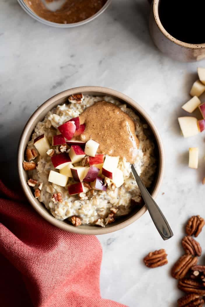 Cozy Apple Cinnamon Oatmeal in a bowl