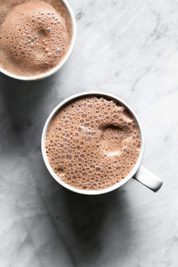 Blender almond hot chocolate