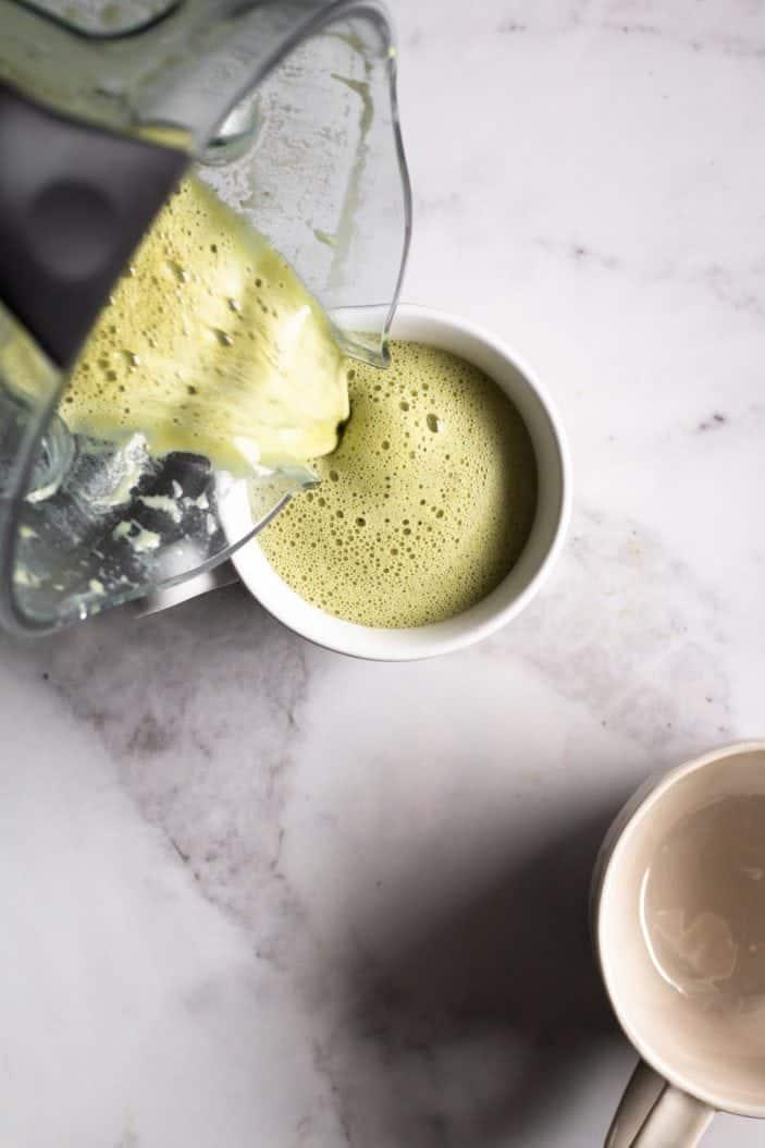 Blender Oat Milk Matcha Latte