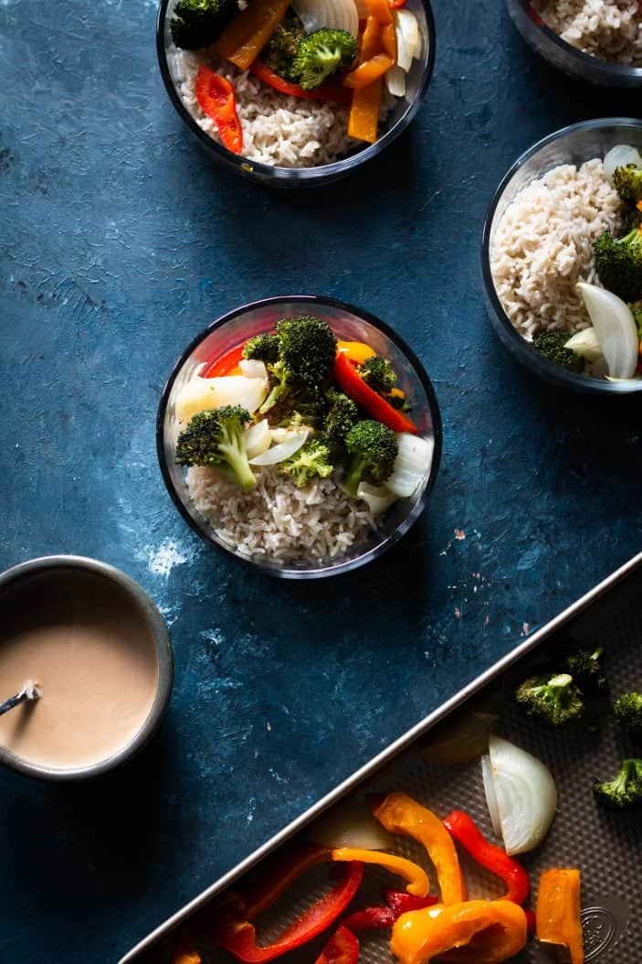 vegetable and rice bowls