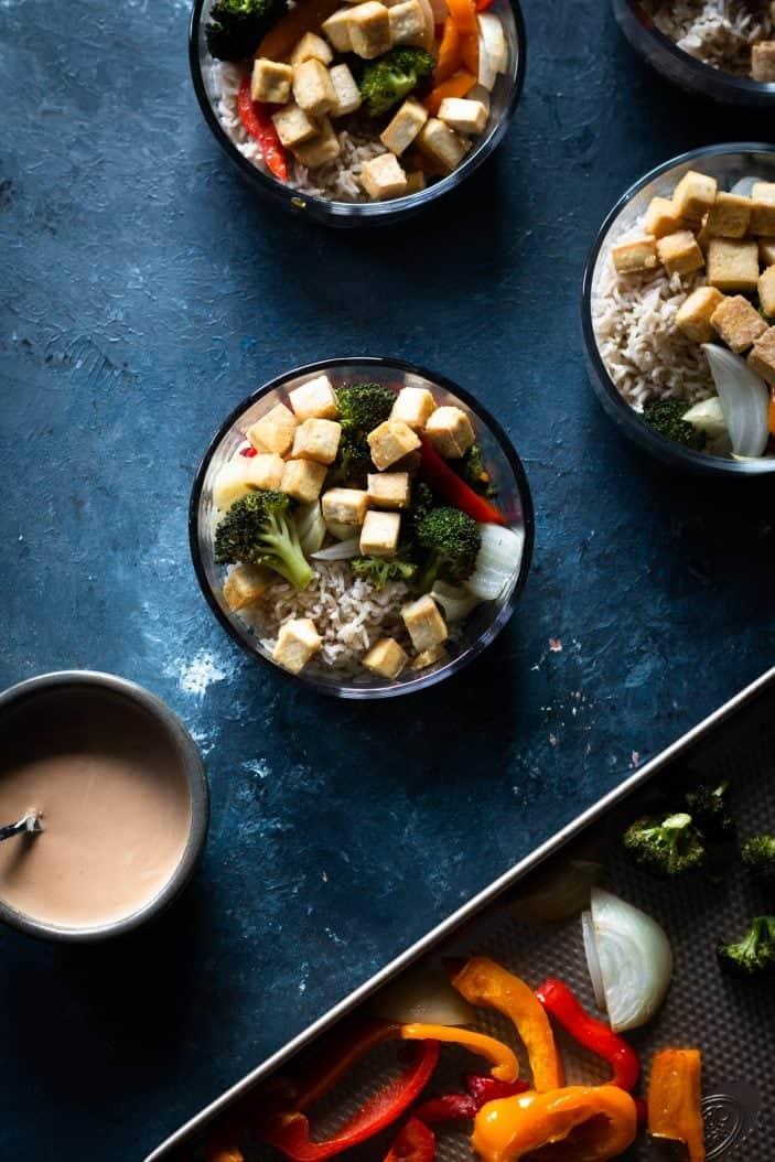 sesame tofu bowl