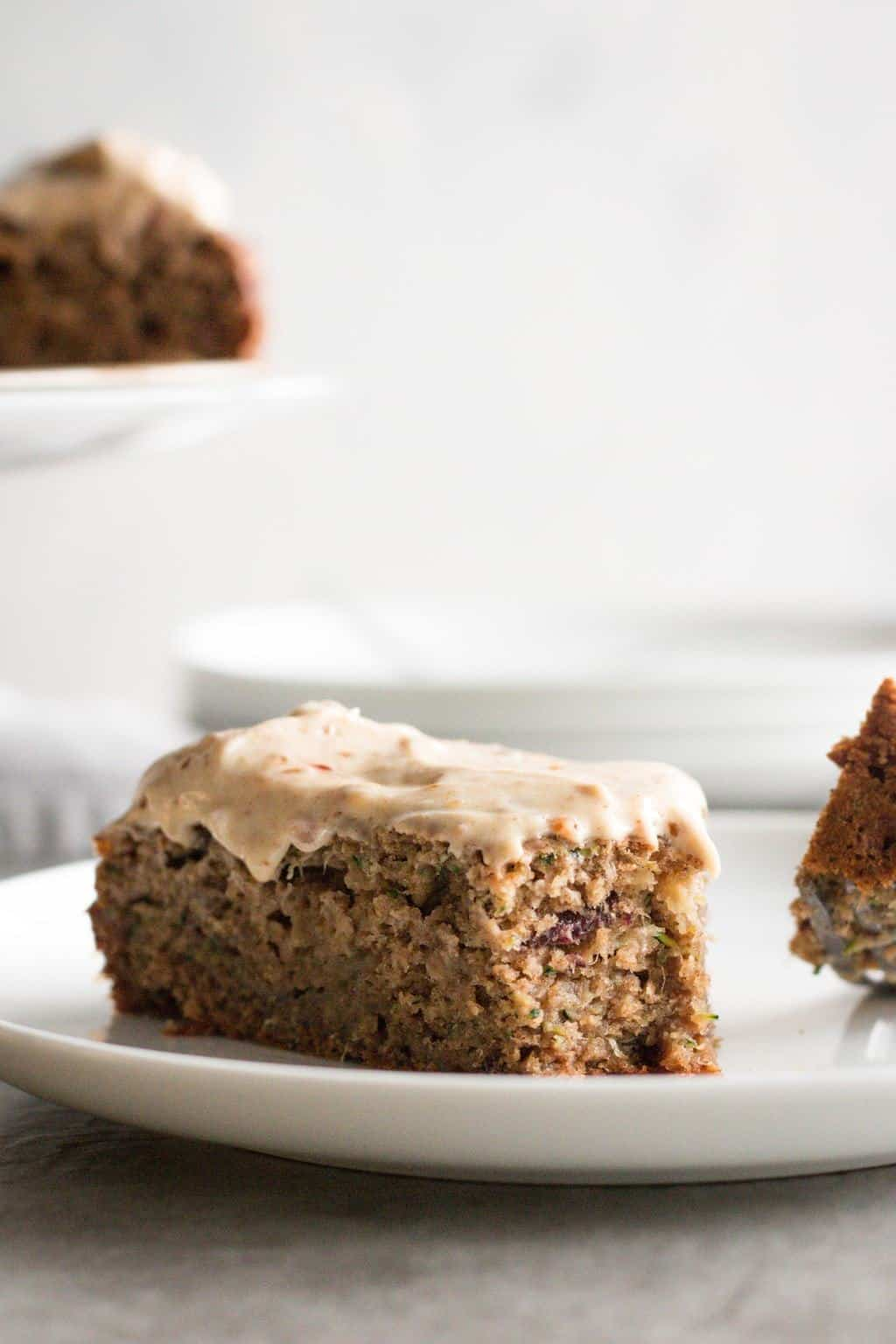 Whole Wheat Apple Zucchini Cake with Cream Cheese Frosting