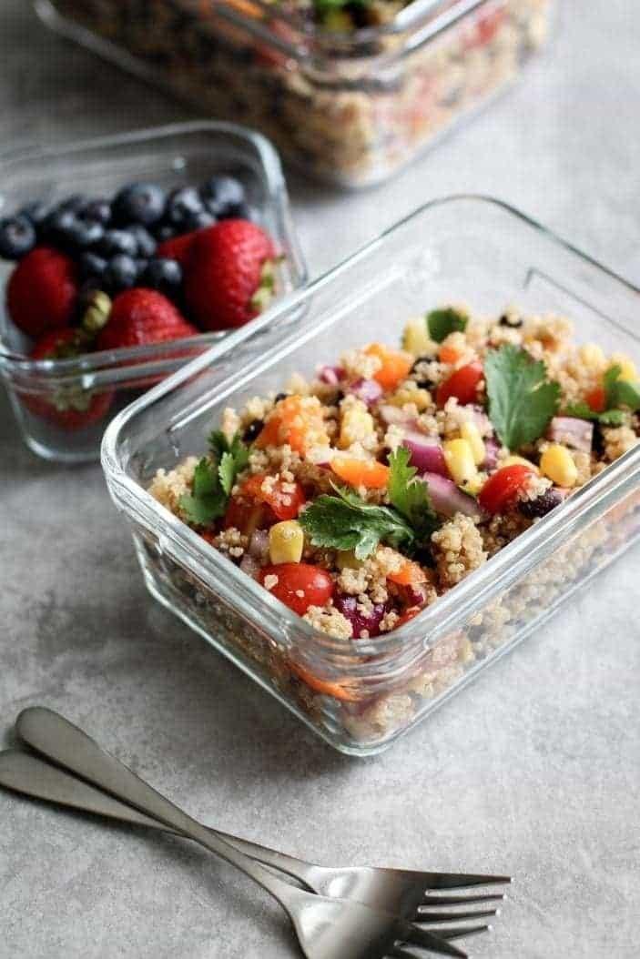 Quick Lunchbox Southwestern Quinoa Salad