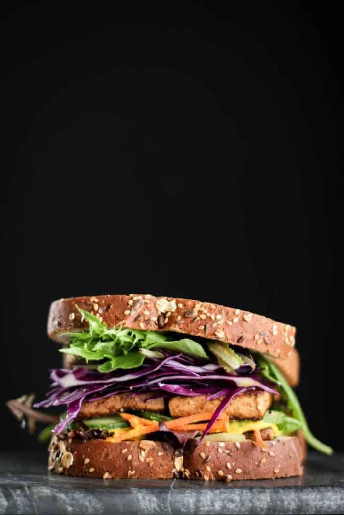 Marinated Tofu Sandwich