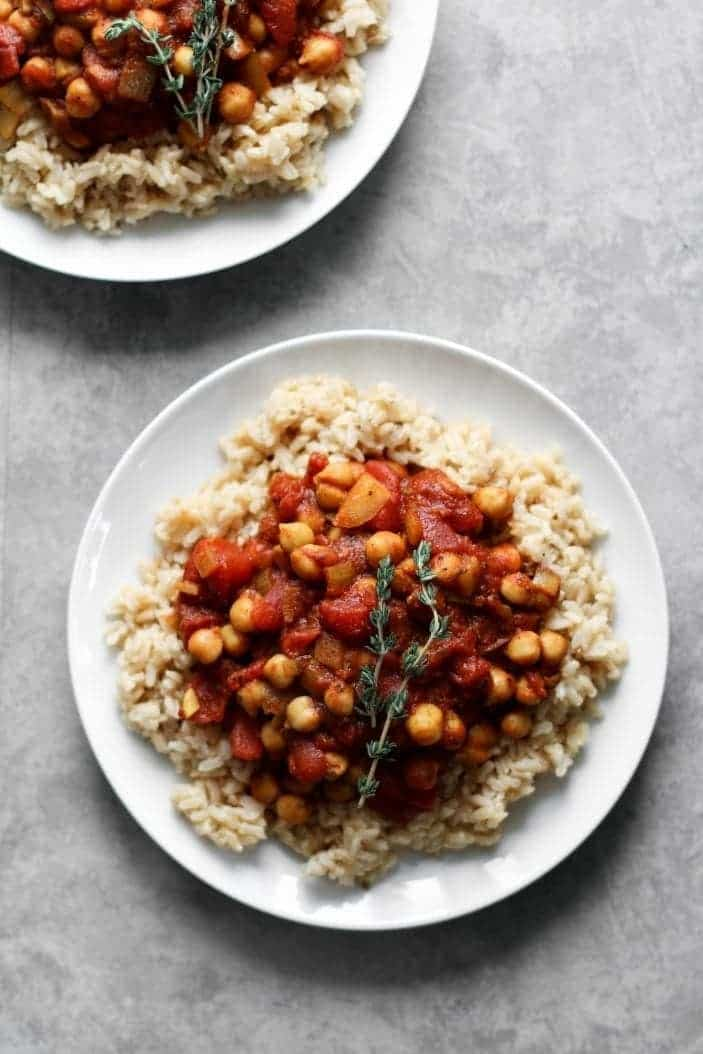 Basic Spiced Chickpea Stew