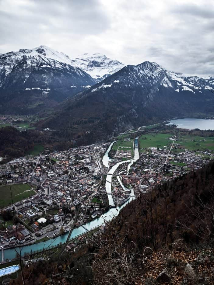 1 Week in Switzerland - view of Interlaken and mountains
