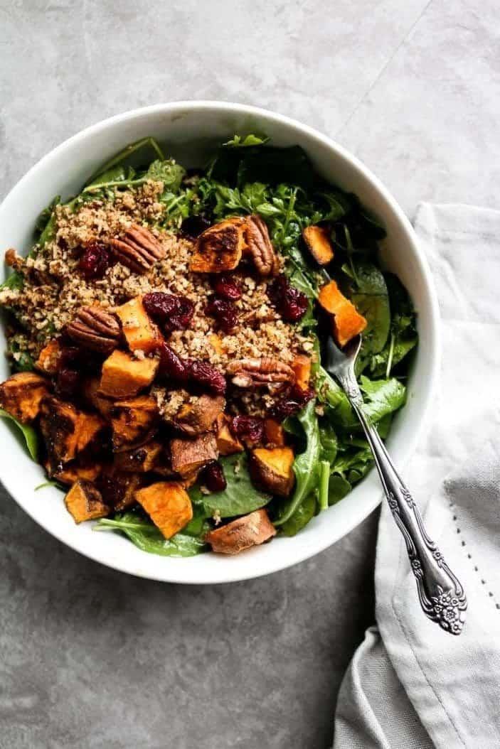 Sweet Potato & Buttered Pecan Winter Salad