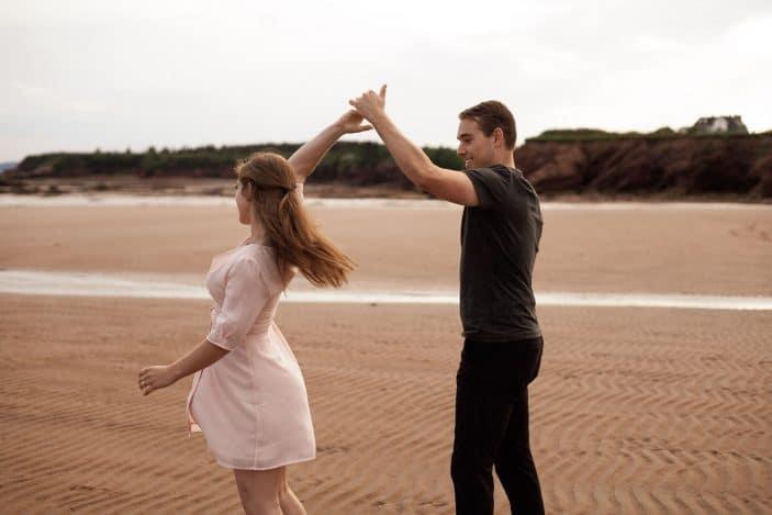 couple dancing - engagement photos