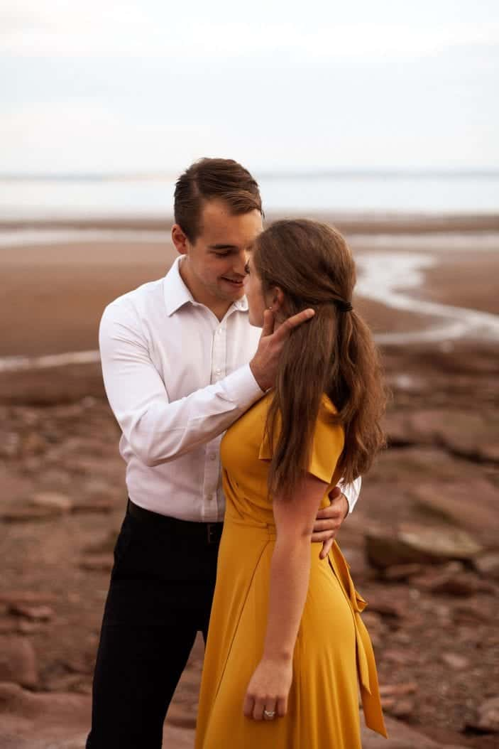 Our Engagement Photos guy almost kissing girl