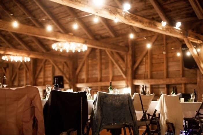 inside the barn, our cozy fall wedding