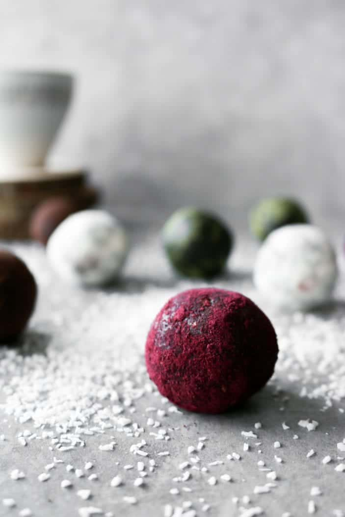 Easy Holiday Truffles seen from the side as a great holiday desserts